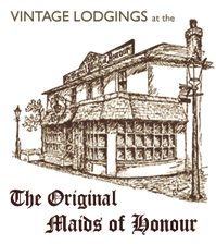 line drawing of the original maids of honour shop